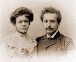 einstein wedding picture